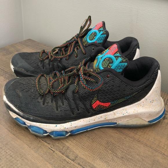 Nike Kd 25 Rainbow Paint Splatter Shoes